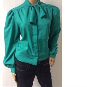 Green Vintage Bow Top Size 18