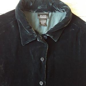 6575366c7bb0f Eileen Fisher Tops - Eileen Fisher Velvet Button down shirt Large