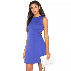 KATE SPADE CUTOUT A LINE fit & flare blue DRESS