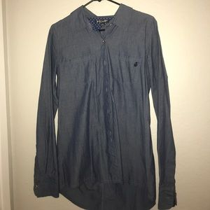 Men's button up chambray shirt