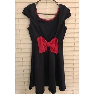 Navy & Pink Bow Dress 🎀