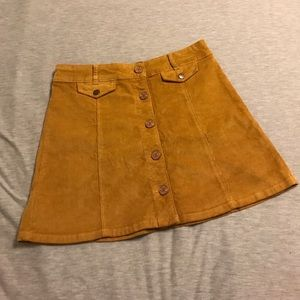 Urban outfitters cord skirt size 6