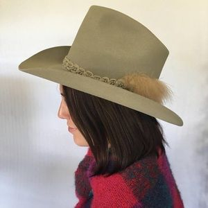 Vintage Resistol Cowboy Hat w/ Feathered Hat Band
