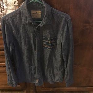 Blue jean color blend with pocket