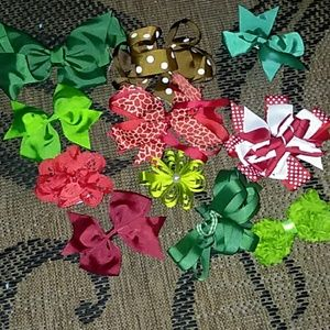 Other - Assorted Fall/Christmas colored bows NEW