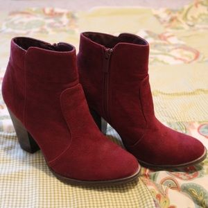 Wine Red Ankle Boots