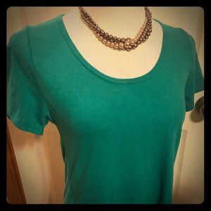 NWT LulaRoe Classic T Size XS Heathered Green/Teal