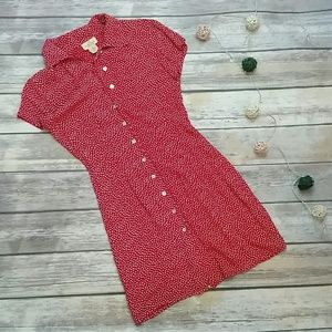 Vintage Limited America red polka dot pin up dress