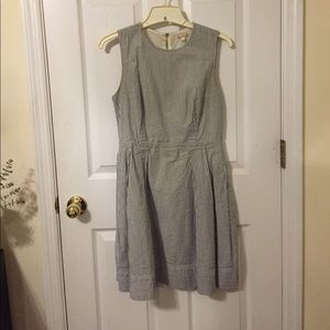 Sear sucker for and flare dress WOTH POCKETS!