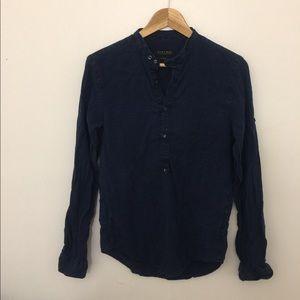 Zara men blue jeans shirt size small
