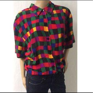 Multi Color Vintage Top Size 18W