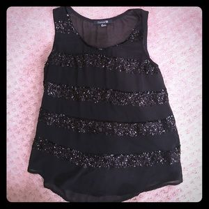 Forever 21 Chiffon Top w/Sequins