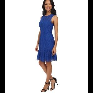 Shoshanna Rainey azul blue lace dress