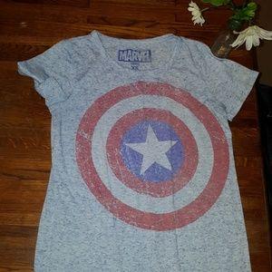 Captain America Vintage Style Tee