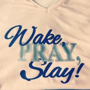 Wake, Pray, Slay V Neck Shirt