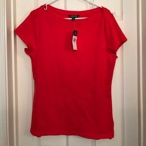 NWT Red Ralph Lauren Red T-Shirt, Size XL