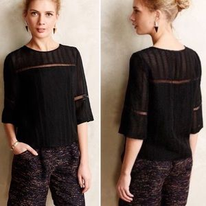 HD in Paris for Anthro Tracery Tee Sheer Blouse 8