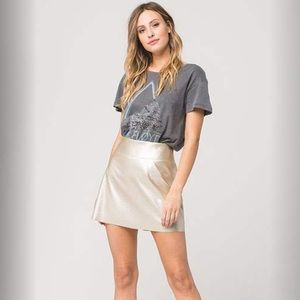 ⛓Metallic Skirt