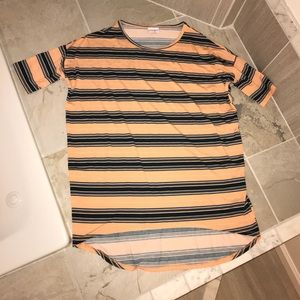 Lularoe Irma XS striped tunic top tee shirt
