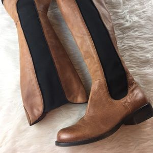 Vince Camuto leather elastic riding boots
