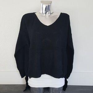 Black High Low Sweater Long Sleeve
