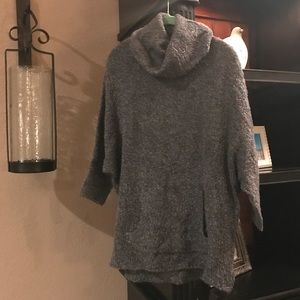 AE Graphite Cowl neck 3/4 sleeve sweater