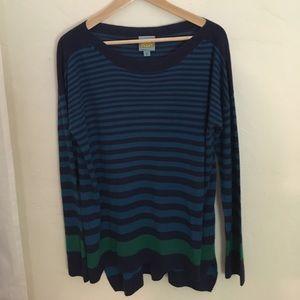 C&C California size medium striped sweater