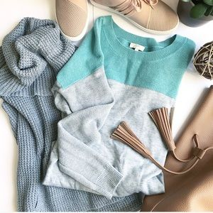 🆕 Joie Cashmere blend color block sweater Size XS