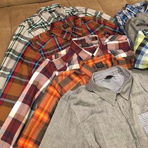 Lot of 9 button down men's shirts