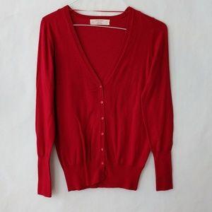 Zara Knit Career Long Sleeve Button Down Cardigan