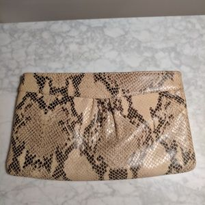 Leather croc clutch