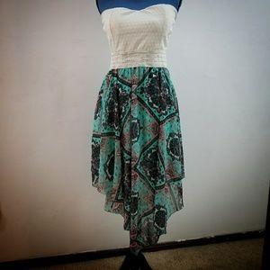 Rue 21 Strapless Handkerchief Dress