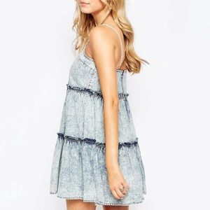 Influence Cami Tiered Denim asos Dress
