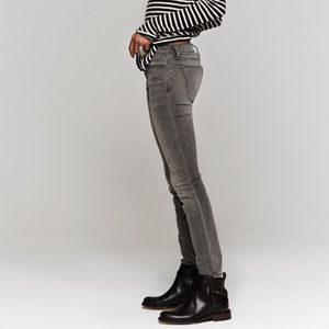 """The Ankle Skinny Jeans """"Gutter"""" Gray"""