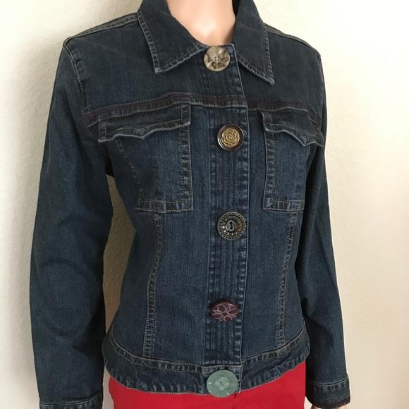 Cabi Jackets Coats Artsy Denim Long Sleeve Jacket Jean Large