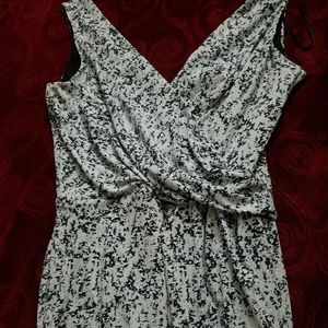 H&M speckled sleeveless top, small