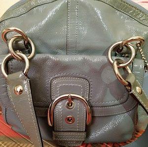 Rare SOHO Coach Courtney Patent Leather Satchel