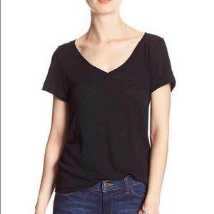 Banana Republic Black V-Neck T-Shirt