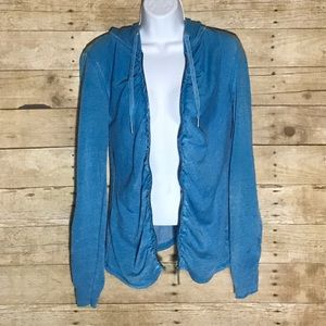 Calvin Klein Blue zip up sweater size Small
