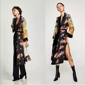 Jackets & Blazers - 🔥5 Star Fav Yellow/Black Floral Print Kimono Coat