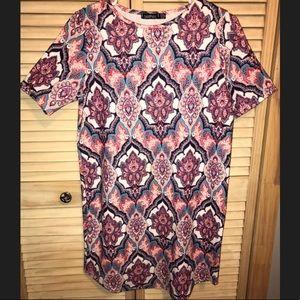 BooHoo Paisley Summer Dress Sz 4