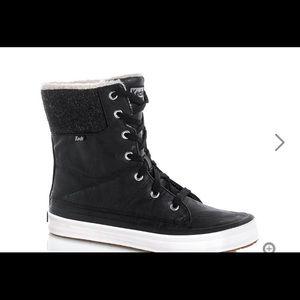 Cute black Keds winter boots
