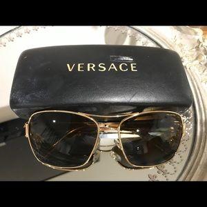 Authentic Versace Gold Sunglasses