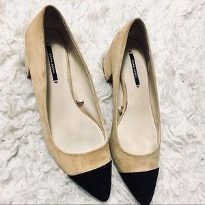 Zara pointy block heels