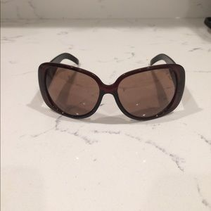 Accessories - Brown sunglasses with cheetah print arms
