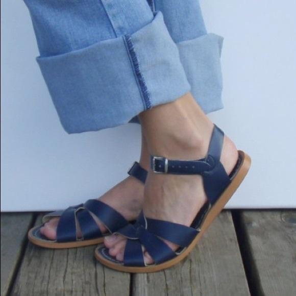 5576a1a9bae72 Navy blue Saltwater Sandals Slingback Leather 9. M_59e971212599fec0de008951