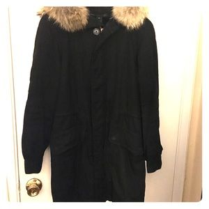 Marc by Marc Jacobs long coat with Fur hood