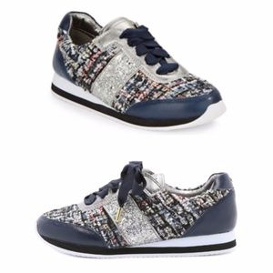 Kate Spade Rare Sidney Tweed Jogging Sneakers 7.5