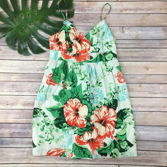 e5407eb71a3 Tommy Hilfiger tropical hibiscus print sundress. M 59e971592fd0b7def6009239