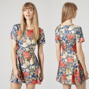 Topshop Boutique Silk Floral Fit and Flare Dress!